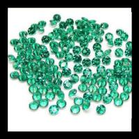 High Quality Machine Cut Heat Resistance Green Nano 1-3mm Loose Nano Stone For Jewelry Making