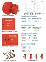 fire hose reel assembly and cabinet
