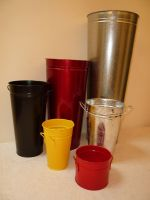 Galanized metallic and or painted buckets