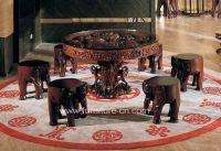 wood sculpture furniture, dining room furniture, wooden mascot