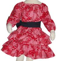 Country Girl Bandana Skirt and Top Set - 2T to Youth Size 8