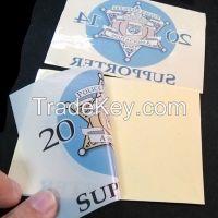 PVC/PP/PET/PS adhesive sticker label