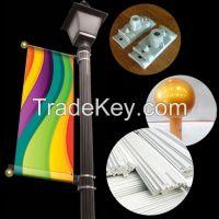 aluminum banner bracket for light pole decoration