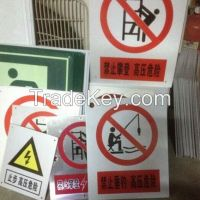 Acrylic sheet and Sign board with UV/screen printed
