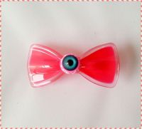 Acrylic Bowknot Hairpin Side-knotted Hair clip Headband Hair Accessories Big Eyes Hair Pins