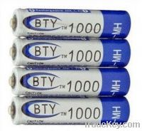 BTY Rechargeable Battery Pack 1000mAh Ni-MH 1.2V