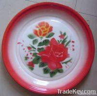 enamelware, enamel round tray