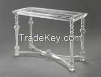 Acrylic Console table  Elegant Design Tempered glass table top + Acrylic base