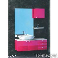 Pink Wooden Bathroom Cabinet (OP-W183-122)