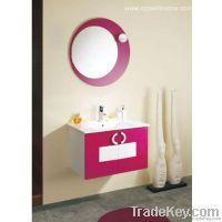 Red Wooden Bathroom Cabinet (OP-W1111-75)