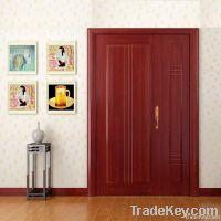 Red Interior Wood Door