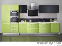Green Lacquer Kitchen Cabinets