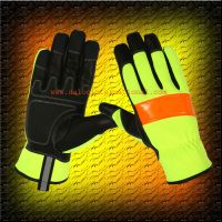 High visibility leather Gloves