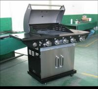 Hotselling BBQ gas grill , 4burner+side burner (steel stainless)