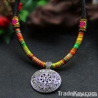 handmade folk alloy necklace