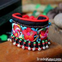 Folk Embroidered Bracelet