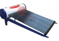 Heat pipe pressurized solar water heater