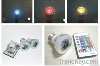 LED RGB Spotlight E27 (3W)