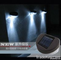 Solar fence lights wall lights