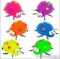 puffer ball, animal puffer ball, flashing ball