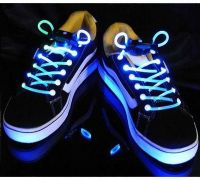 LED fibre neon shoelaces