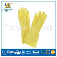 ISO approved Colorful  latex household gloves/rubber kitchen cleaning gloves