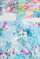 Rayon fabric with printed