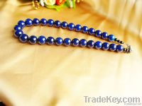 natural gemstone blue agate handmade necklace jewelry