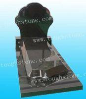 BLACK GRANITE TOMBSTONE AND MONUMENT