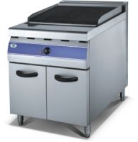 Gas lava rock grilddle with cabinet