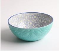New bone china dinner set, embossed bowl, restaurant bowl, salad bowl