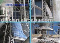 Gypsum production line with fluidized furnace