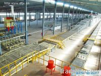 Gypsum board making machine with natural gas drying