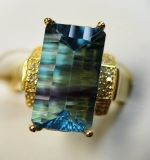 925 Silver Ring with Fluorite (LTF0004)