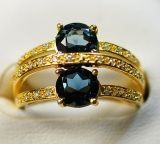 925 Silver Ring with London Blue Topaz (LBT0025)