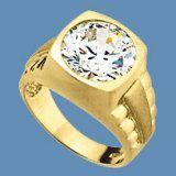 9k Yellow Gold Ring With Gemstone (LRG1253)