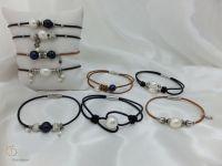 03-Pearl Leather Bracelet
