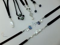 45_Pearl Velvet Necklace