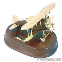 Antique Airplane, Wooden Base