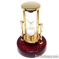 Sand Timer on Mahogany Wood Base