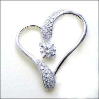 Gemstone/semi-precious stone jewelry: Cubic zircon pendant