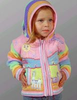 Wool cardigan with