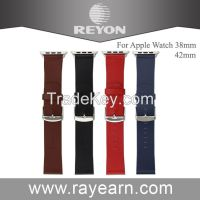 Luxury real alligator leather watch band for apple watch leather watch strap with metal clip