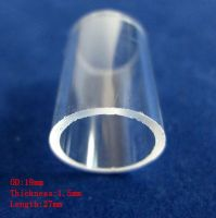 Cutted quartz glass tubes used as quartz sleeve