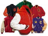 Leather Sleeves Varsity Wool Bass-Ball Jackets