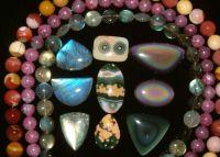 Semi-precious Stone Cabs & beads