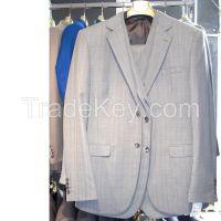 MENS SUIT STRIPES TWO BUTTON SLIM FIT DRESS SUIT WHOLESALE WEDDING #ST2