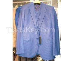 MENS SUIT STRIPES TWO BUTTON SLIM FIT DRESS SUIT WHOLESALE WEDDING #ST3