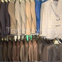 MENS SUIT STRIPES TWO BUTTON SLIM FIT DRESS SUIT WHOLESALE WEDDING #A4