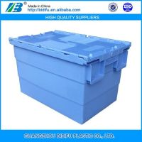 Vingin PP material plastic crate with lid for fruit and vegetable